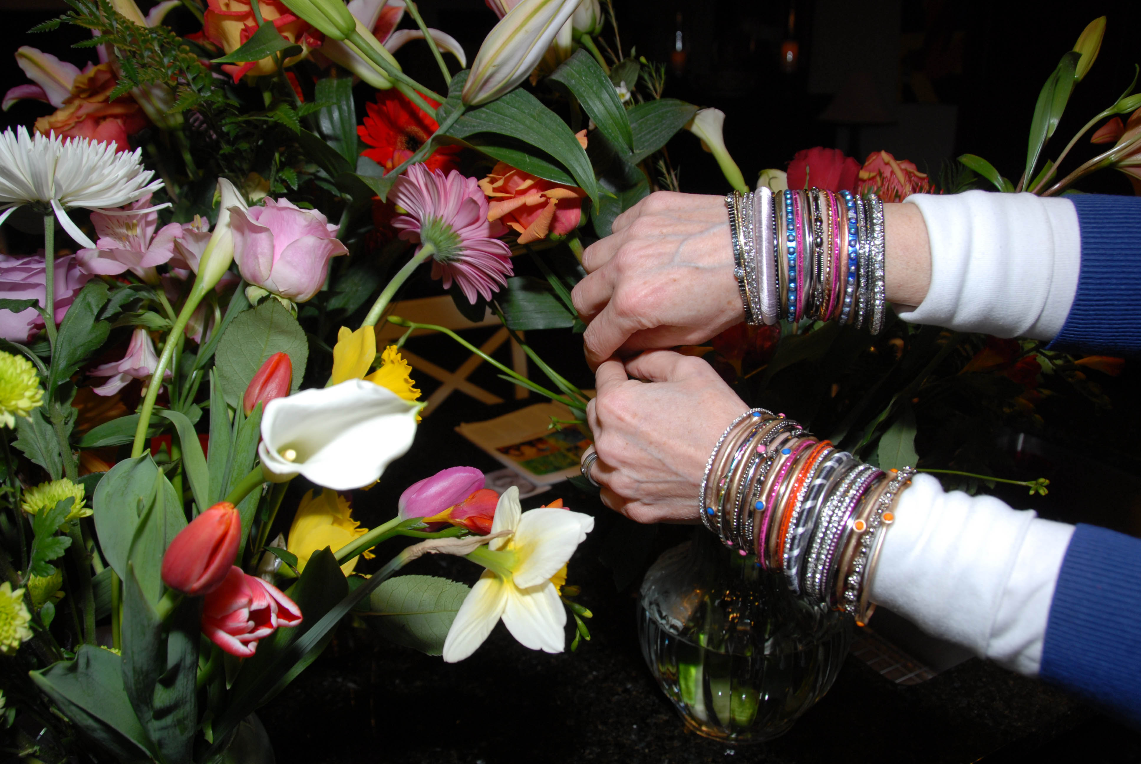 Bracelets and flowers
